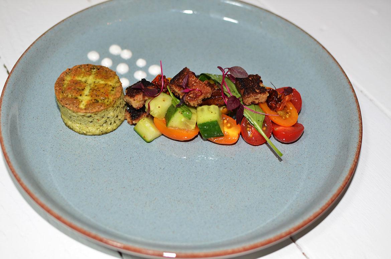 Mixed Baby Plum Tomato Salad with Basil Tofu
