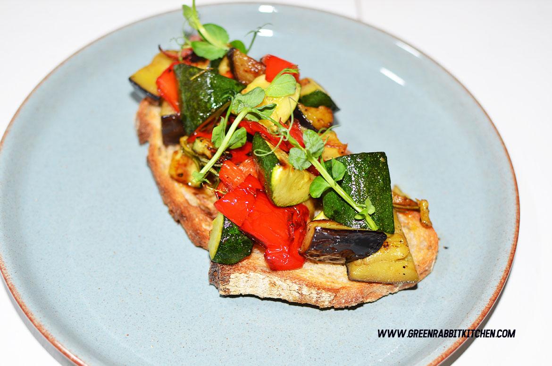 Vegan Roasted Vegetable Sourdough Bruschetta 03