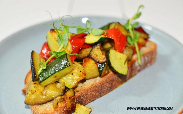Vegan Roasted Vegetable Sourdough Bruschetta 05