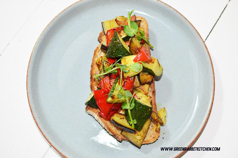 Vegan Roasted Vegetable Sourdough Bruschetta 06