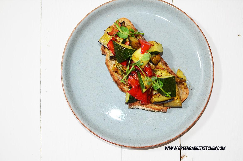 Vegan Roasted Vegetable Sourdough Bruschetta 07