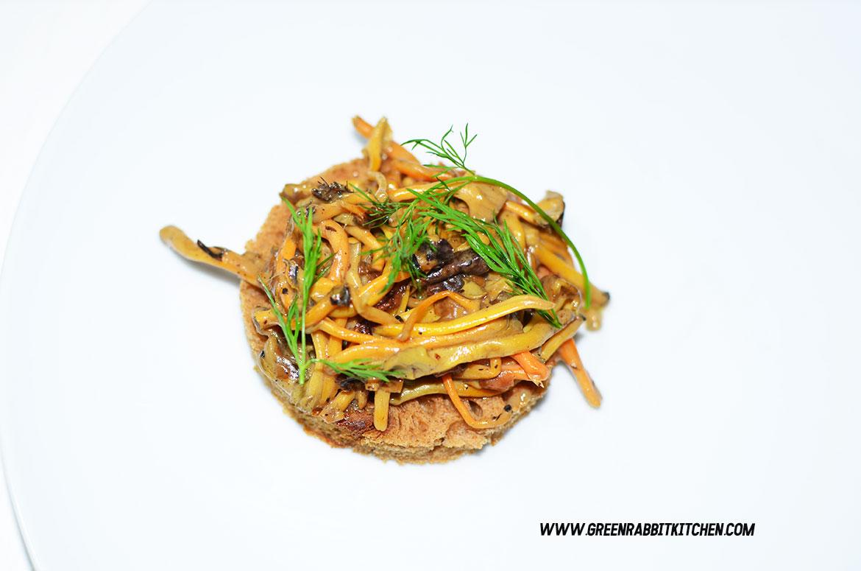 Vegan Chanterelle Mushroom Crostini 06