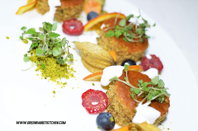 Vegan Orange Olive Oil and Pistachio Cake