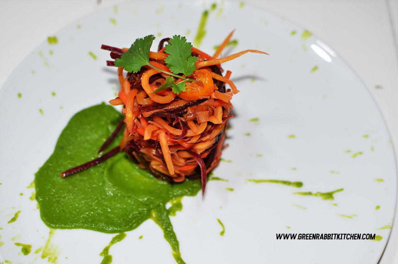 Raw Heritage Carrots Spaghetti
