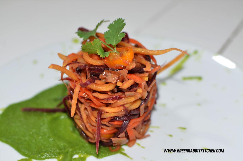Raw Heritage Carrots Spaghetti 03