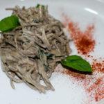 Vegan Creamy Black Buckwheat Spaghetti