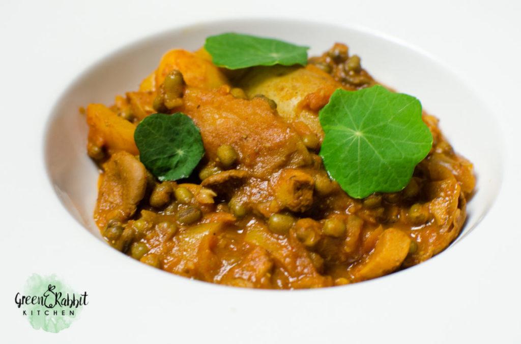 Vegan Mung Beans Mushroom Casserole