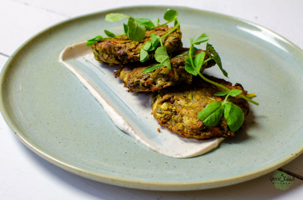 Vegan Courgette and Carrots Fritters