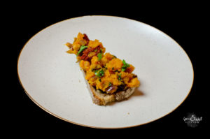 Vegan Smashed Butternut Squash Chickpea on Bread